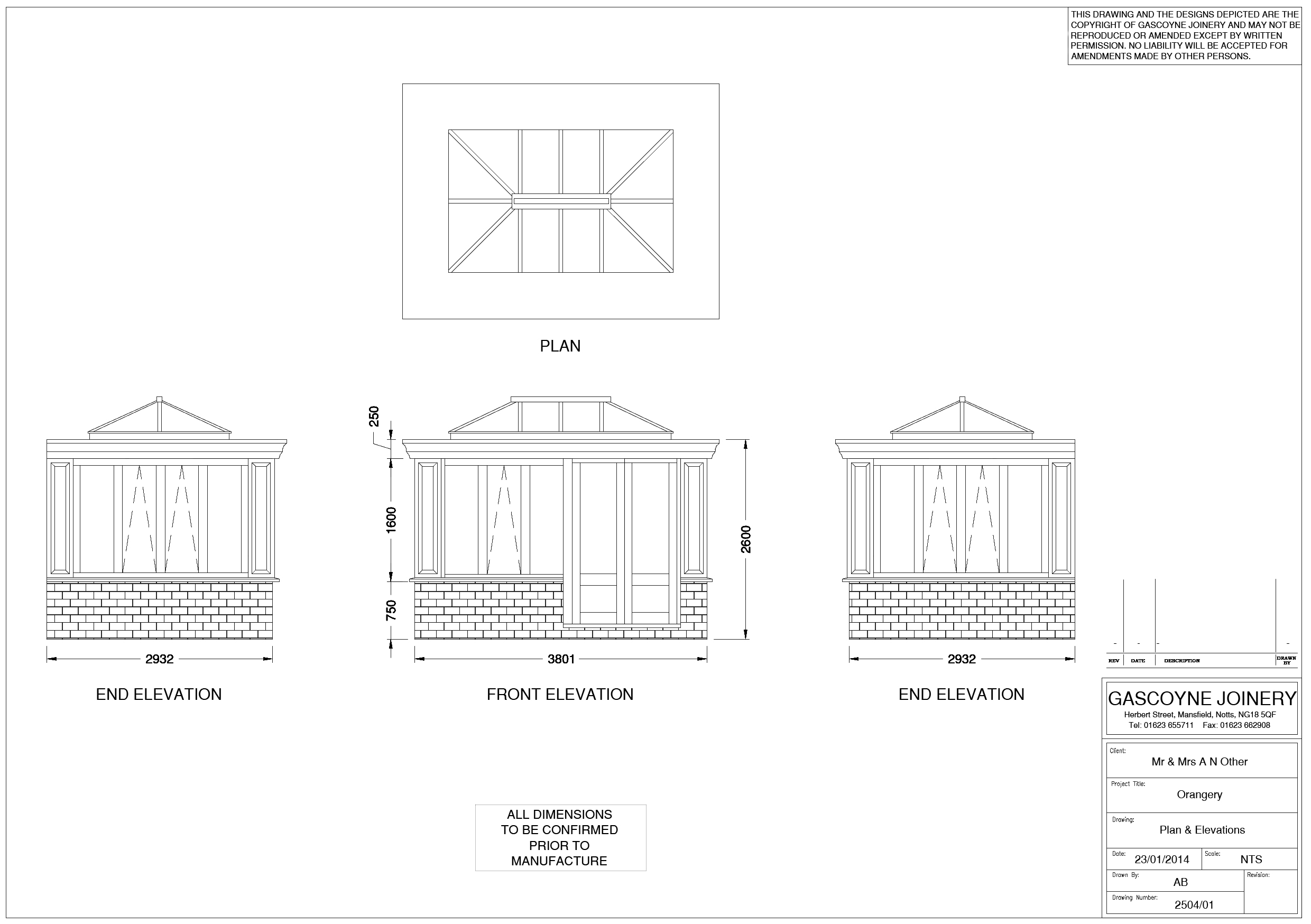 In House Cad Drawing Facilities Orangery Example Gascoyne Joinery