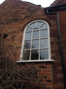 Bespoke curved timber window