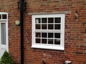 Mock sliding sash timber window