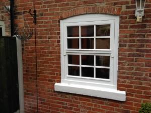 Mock sliding sash wooden windows
