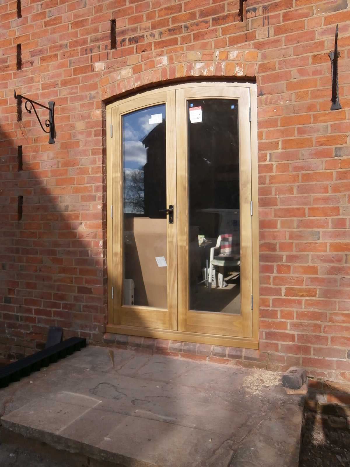 Curved timber french doors gascoyne joinery for French doors both open
